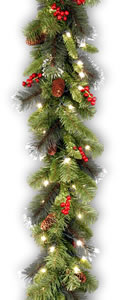 national tree crestwood spruce garland 9ft x 10in on sale at amazon
