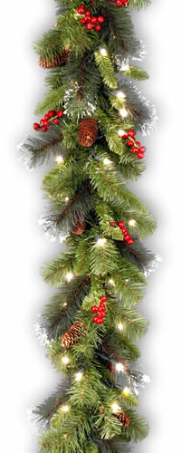 national tree crestwood spruce garland 9ft x 10in